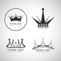 Crown logotipo do vetor