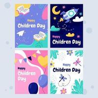 cartão do dia das crianças vetor