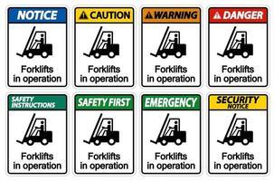 empilhadeiras em operação vetor