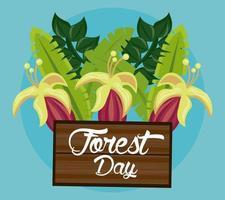 flores silvestres para a celebração do dia da floresta