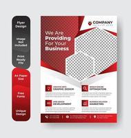 layout de apresentação de flyer corporativo vetor