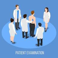 médico de pessoas isométricas