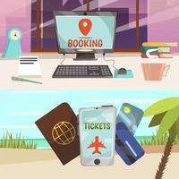 banners de serviços de reserva online