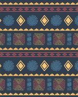 étnico feito à mão. fundo padrão de repetição tribal