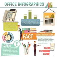 infográficos ortogonais de escritório