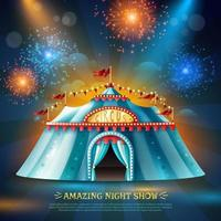 fundo da noite de circo
