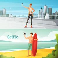 conjunto de fotos selfie