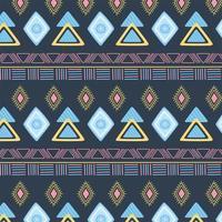 étnico feito à mão. padrão de ornamento tribal abstrato