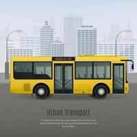 ônibus de transporte urbano vetor