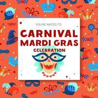 quadro de carnaval de carnaval vetor