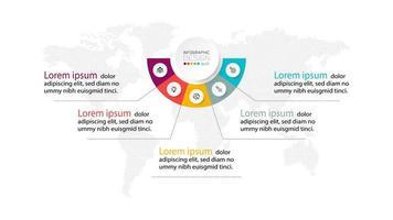 infográfico modelo moderno para apresentação de banner