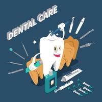 estomatologia odontologia atendimento odontológico conceito isométrico vetor