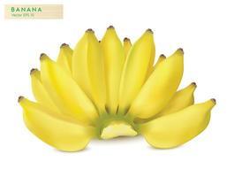 banana realista em um cacho