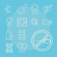 saúde sexual. conjunto de métodos de planejamento familiar