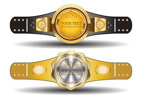 Template Belt Championship vetor