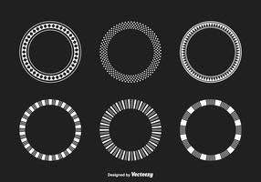 Funky geométrico Frames Vector Set