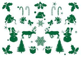 Ícone Elemento de Natal Set vetor