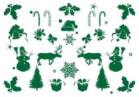 Ícone Elemento de Natal Set