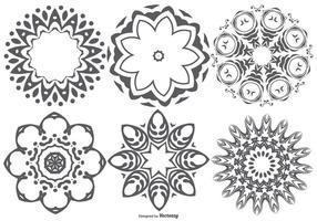 Decorativa Coleção forma abstrata