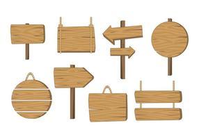 Madeira Vector Board Sinal de madeira