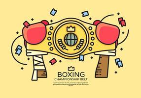 Campeonato Vector Belt Ilustração