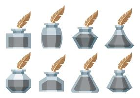 Free Vector Inkwell Icons