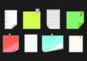 Papel do vetor do bloco de notas
