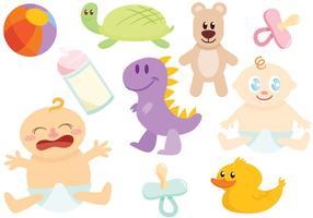 Brinquedos vetores livres do bebê