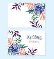 ornamento de casamento floral decorativo cartão ou convite