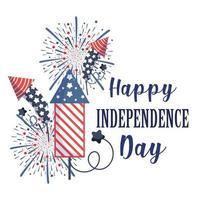 desenho vetorial de fogos de artifício para o dia da independência
