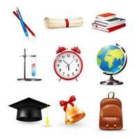 conjunto de elementos escolares vetor