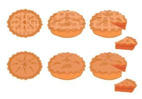 Conjunto de vetores de torta de maçã