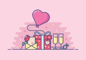 Ilustração bonito Dia dos Namorados