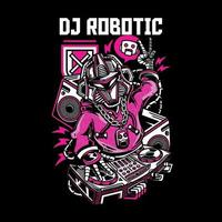 design de camiseta robótica dj