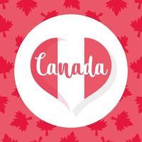 coração da bandeira canadense para o feliz dia do Canadá