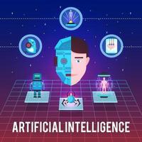 banner de inteligência artificial vetor