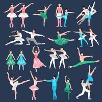 conjunto de dançarina de balé vetor