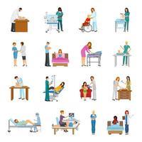 maternidade no hospital e berçário vetor