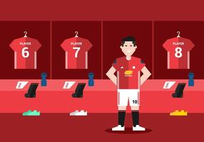 Red Futebol Sala de Vestir vetor