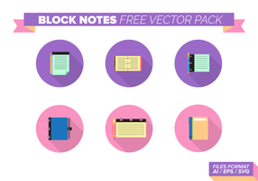 Bloco Notas Pacote Free Vector