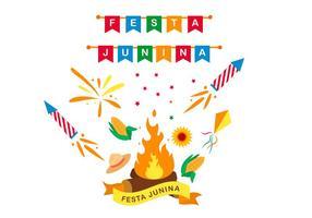 Festa Junina Design Cartaz vetor