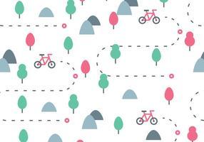 Padrão Bike Trail vetor