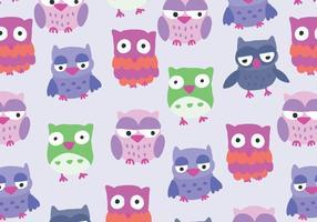 Colorido Buho Owl Pattern Vector