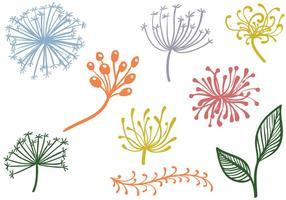 As plantas decorativas livres Vetores