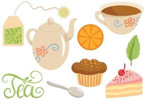 Tempo vetores livres de chá
