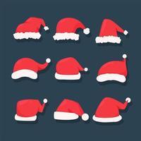 conjunto de chapéu vermelho de natal
