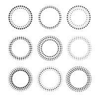 conjunto de belas molduras de pontos circulares vetor