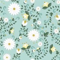 padrão floral sem costura, textura vetor