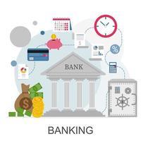 infográfico de conceito bancário vetor
