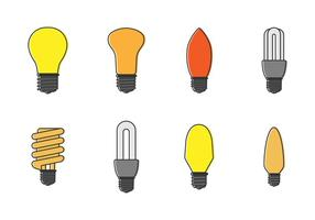Set Free de lâmpadas Vector